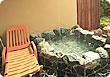 庭園露天風呂 岩
