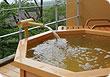 庭園露天風呂 みかげ石